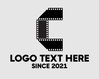 Animation - Film Strip Letter C logo design