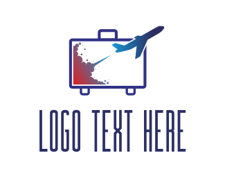 Relax - Travel Briefcase logo design