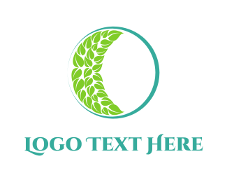 Vegetarian - Green Moon logo design