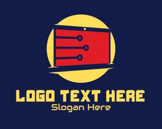 Tech Business - Digital Circuit Monitor logo design