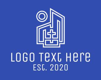 Christian - Blue White Christian Church logo design