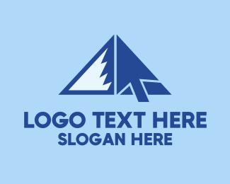 Click - Mountain Cursor  logo design
