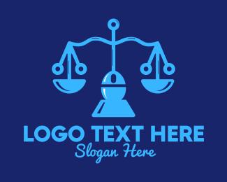 Justice - Justice Scale Tech logo design