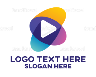 Youtube - Colorful Youtube Player logo design
