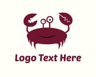 Crustacean - Crab Cartoon logo design