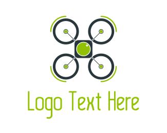 Rotor - Green Drone logo design