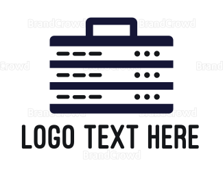 Briefcase - Server Briefcase logo design