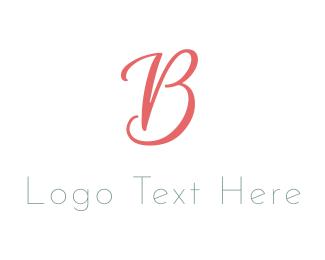 Coral - Elegant Coral Letter B logo design