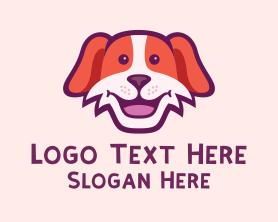 Puppy - Friendly Smiling Dog logo design