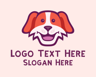 Dog Head - Friendly Smiling Dog logo design