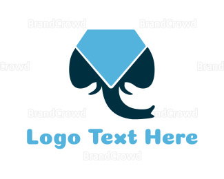 Elephant - Elephant & Diamond logo design