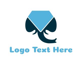 Diamond - Elephant & Diamond logo design