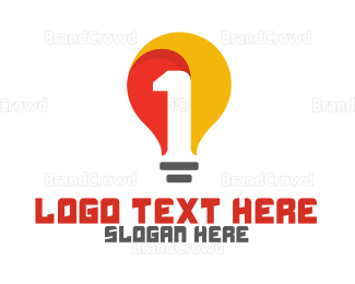 Hardware - Yellow Bulb Number 1 logo design