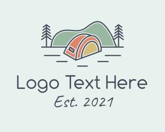Roadtrip - Tent Outdoor Scene logo design