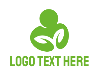 Life - Green Man logo design