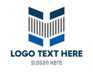 Stripes - Tech Stripes Letter H logo design
