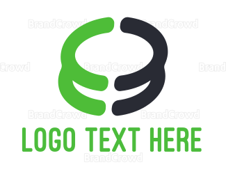 Crypto - Green Coin Stack logo design