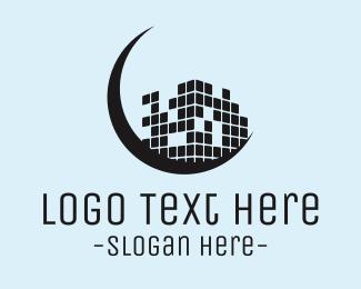 Pixel - Moon & Pixels logo design