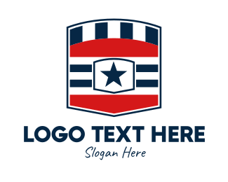Law Enforcer - US American Shield logo design