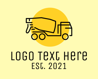 Concrete - Concrete Mixer Truck logo design