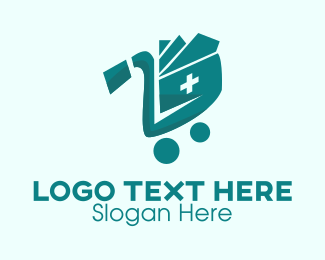 Push Cart - Medical Supplies Shopping  logo design