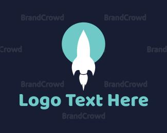 Saas - White Rocket logo design