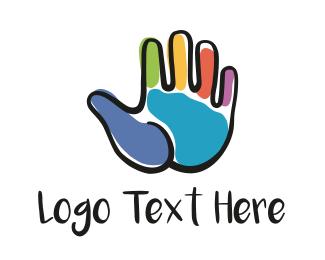 Finger - Hand Painting logo design