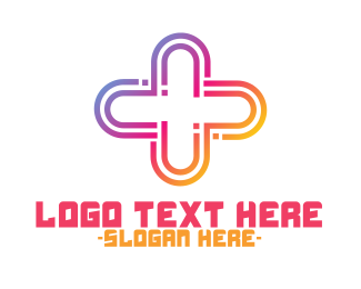 Pharmacy - Gradient Plus logo design