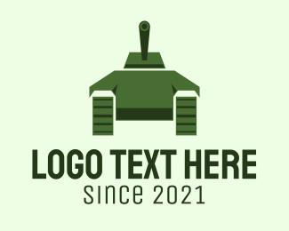 Military - Green Military Tank logo design