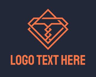 T - Monoline Corkscrew Letter T  logo design