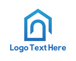 Arch - Blue Home logo design
