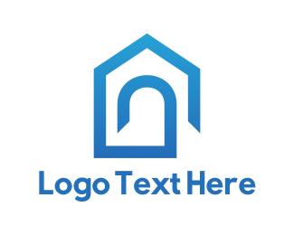 Arch - Blue Home logo design