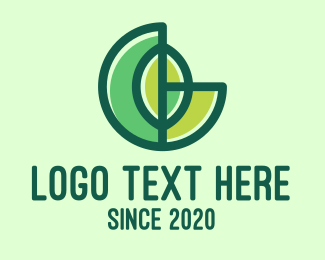 Forestry - Abstract Round Green Leaf logo design