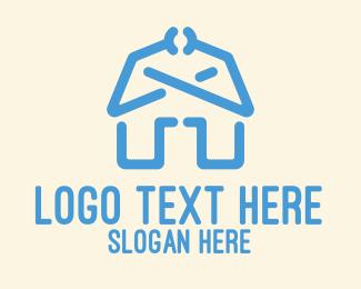 Barn - Blue Barn House  logo design