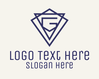 Blue Letter G Jewelry Logo