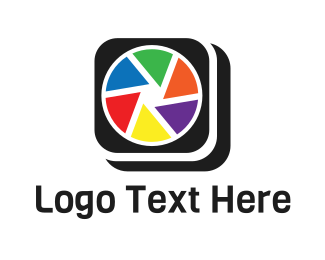 Photo Album - Colorful Camera App logo design