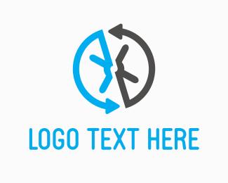 Lock - Safe Arrows logo design