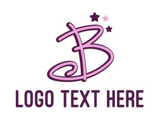 Actress - Star Letter B logo design