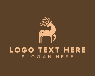 Moose Head - Brown Deer logo design