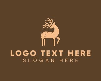 Forest Animal - Brown Deer logo design