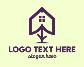 Bouquet - Flower House Outline logo design