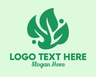 Massage - Spa Massage Herbal logo design