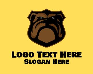 Plaque - Bulldog Plaque logo design