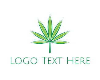 Cbd Oil - Marijuana Leaf logo design