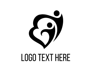 Mother - Couple Heart logo design