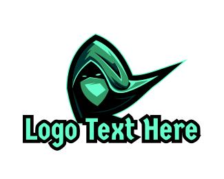 Hood - Green Scarf Assassin logo design