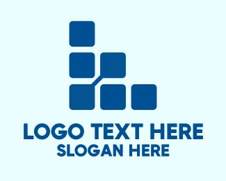 Big Data - Digital Square Letter L logo design