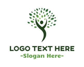 Human Tree - Human & Nature logo design