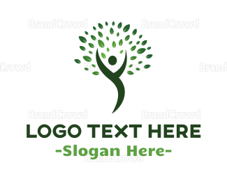 Human Tree - Human & Nature logo design