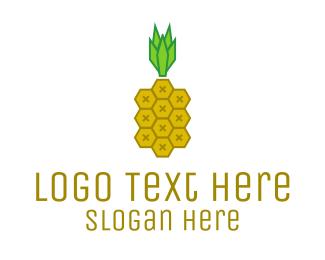 Summer - Geometric Pineapple  logo design